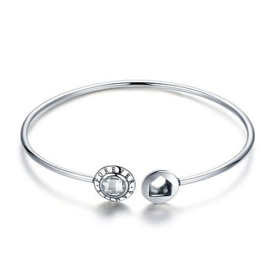 Forever Family 925 Sterling Silver Bangle Bracelet - jolics