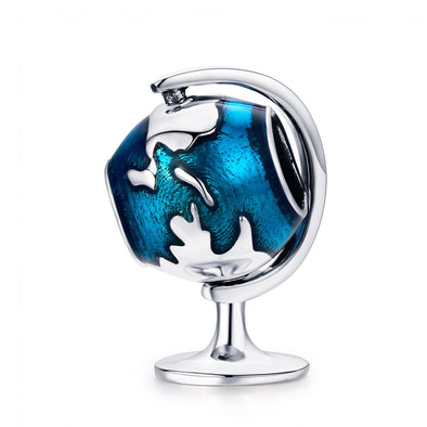 Globes 925 Sterling Silver Charm - jolics