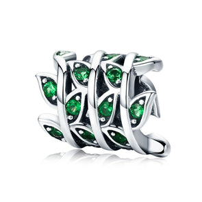 Grass 925 Sterling Silver Bead Charm - jolics