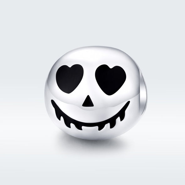 Halloween Scary Face 925 Sterling Silver Charm - jolics