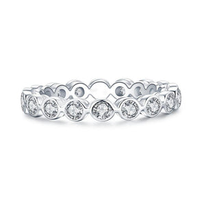 Handmade Comfort Fit Sterling Silver Eternity Ring - jolics
