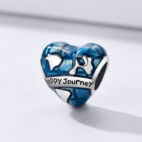 Happy Journey 925 Sterling Silver Bead Charm - jolics