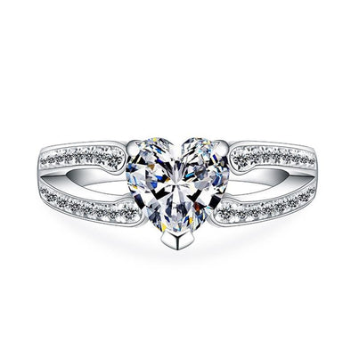 Heart Cut Split Ring - jolics