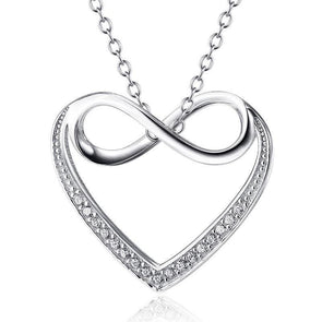 Heart- Shaped Infinity Pendant Necklace - jolics