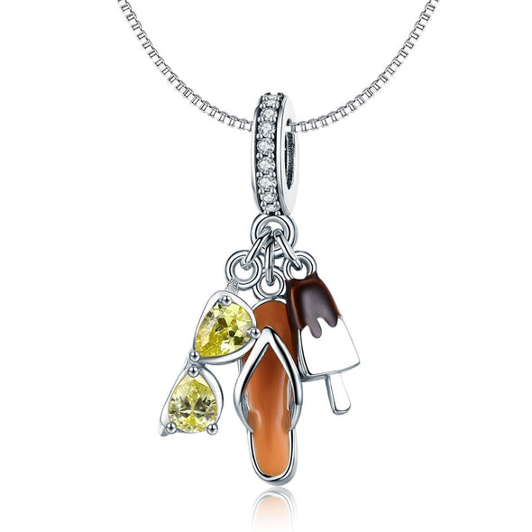 Ice Cream 925 Sterling Silver Dangle Charm - jolics