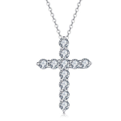 Jolics Cross 925 Sterling Silver Pendant Necklace - jolics
