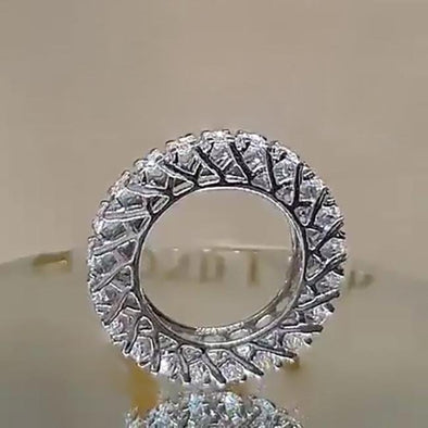 Jolics Handmade Round Cut Band Ring for Party & Engagement - jolics