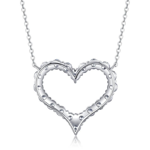 Jolics Heart Hollow Sterling Silver Pendant - jolics