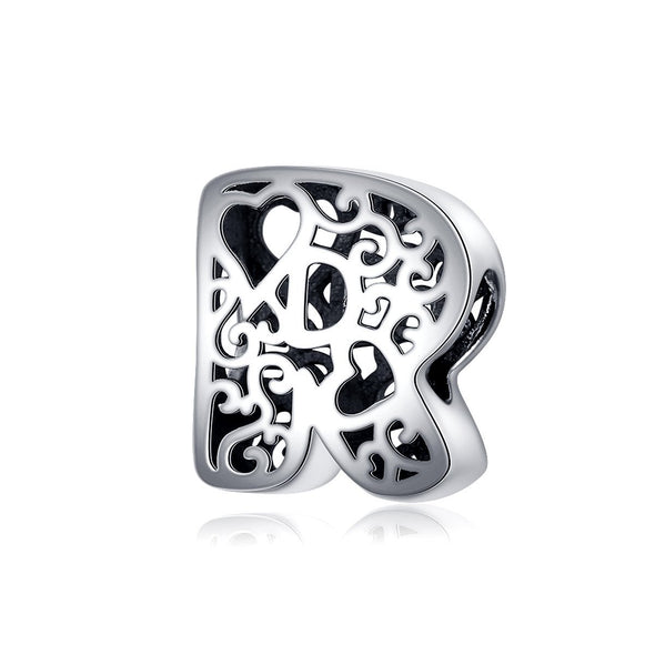 Magic Letters Collection Initial Letter A-Z 925 Sterling Silver Charms for Bracelet - jolics