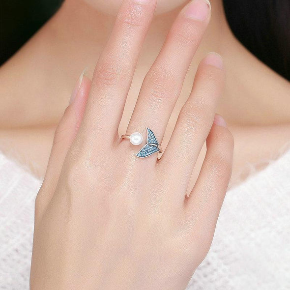 Mermaid Pearl Sterling Silver Ring - jolics