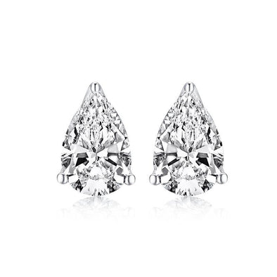 Pear Cut 925 Sterling Silver Stud Earrings - jolics