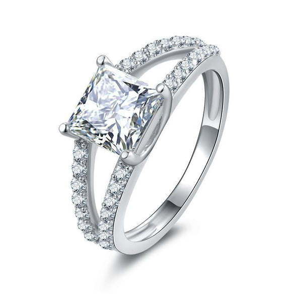Princess Cut Split Ring - jolics