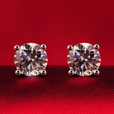 Round Cut 4 Prong Classic Earrings - jolics