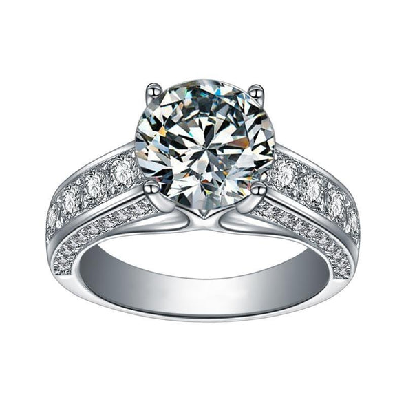 Round Cut 925 Sterling Silver Luxury Ring - jolics