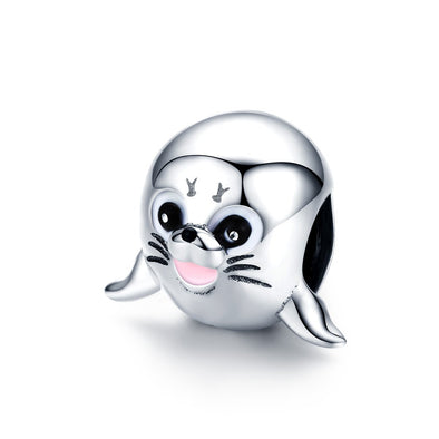 Sea Lion 925 Sterling Silver Bead Charm - jolics