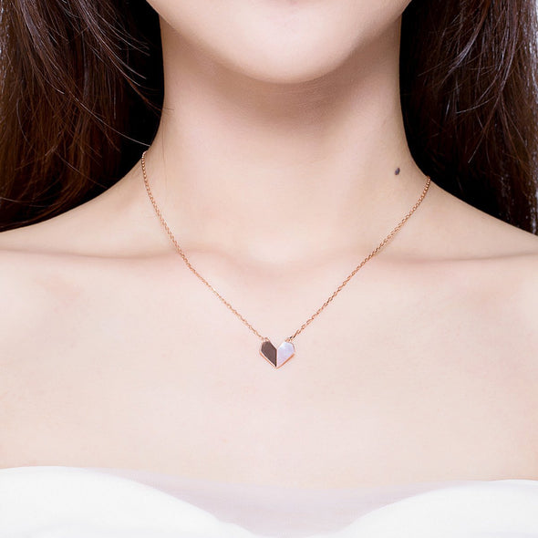 Shape of Love 925 Sterling Silver Necklace - jolics