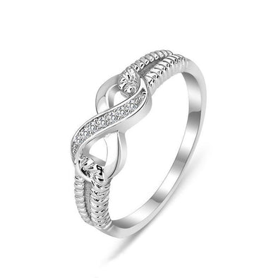 Simple Infinity Accent Ring - jolics