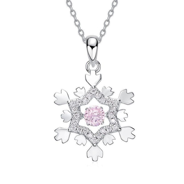 Snowflake Design Pendant Necklace - jolics