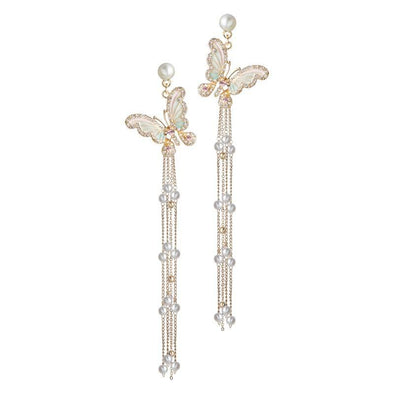 Special Butterfly Tassel Earrings - jolics