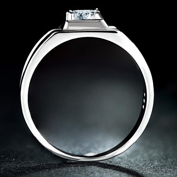 Square 925 Sterling Silver Men Band - jolics