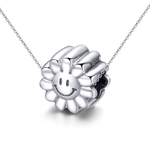 Sunflower 925 Sterling Silver Bead Charm - jolics