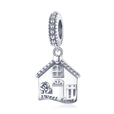 Sweet Home 925 Sterling Silver Dangle Charm - jolics