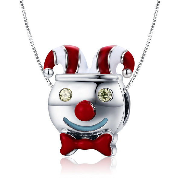 The Circus Clown 925 Sterling Silver Charm - jolics