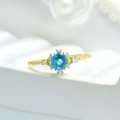 Topaz Vintage Stacking Ring - jolics