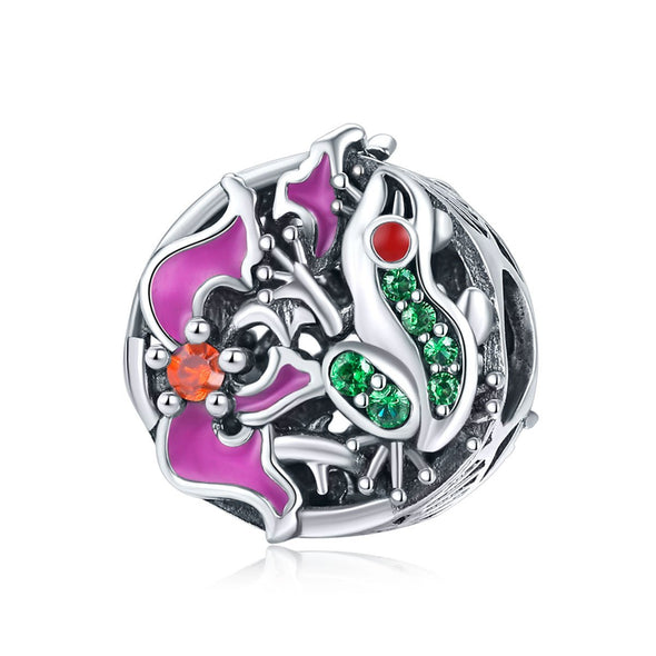 Tree Frog 925 Sterling Silver Bead Charm - jolics