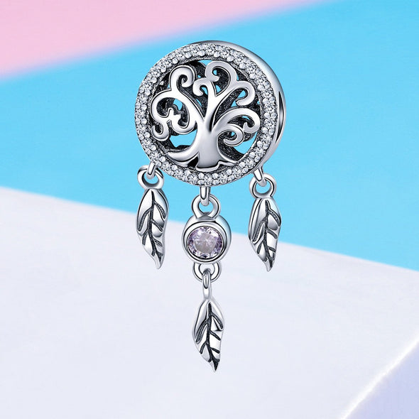 Tree of Life 925 Sterling Silver Dangle Charm - jolics