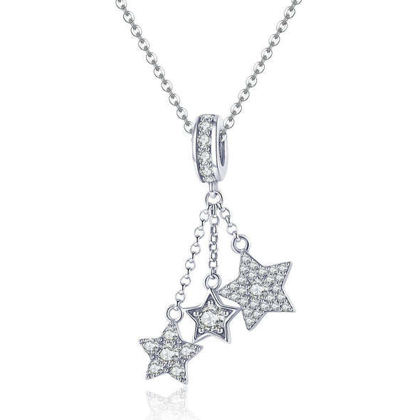 Twinkle Little Star 925 Sterling Silver Dangle Charm - jolics