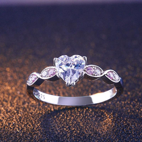 Unique Heart Shape Ring Set - jolics