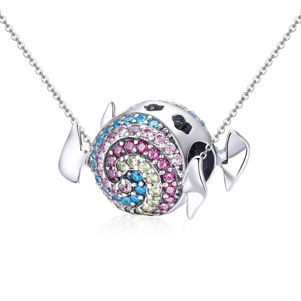 Winged Rainbow Ball 925 Sterling Silver Bead Charm - jolics
