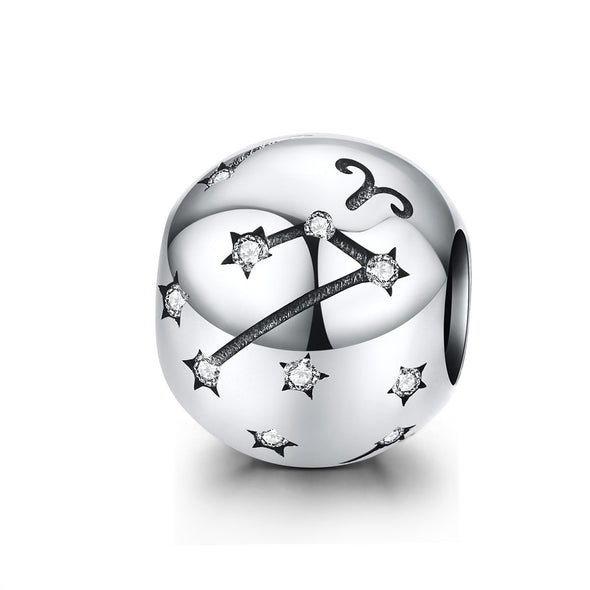 Zodiac Sign 925 Sterling Silver Bead Charm - jolics