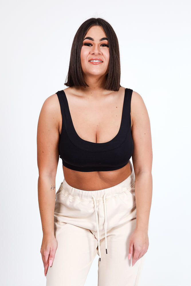 Base Leisure Bra - Black