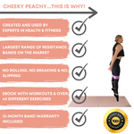 Medium (Heavy Resistance) Cheeky Peachy Fabric Resistance Band