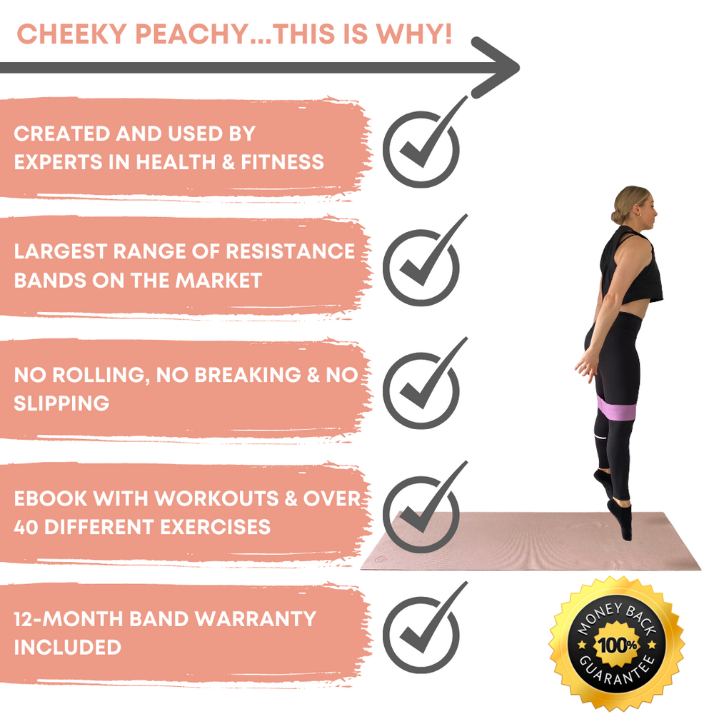 Small (Heavy Resistance) Cheeky Peachy Fabric Resistance Band