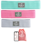 Advanced Fabric Resistance Booty Band Bundle (Gym & Home Workouts) + FREE Workout eBook