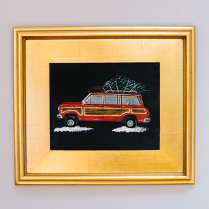 Wagoneer with Tree Original Painting