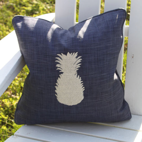 Pineapple on Indigo 18""