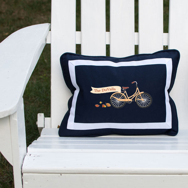 Bicycle on Outdoor Navy Lumbar