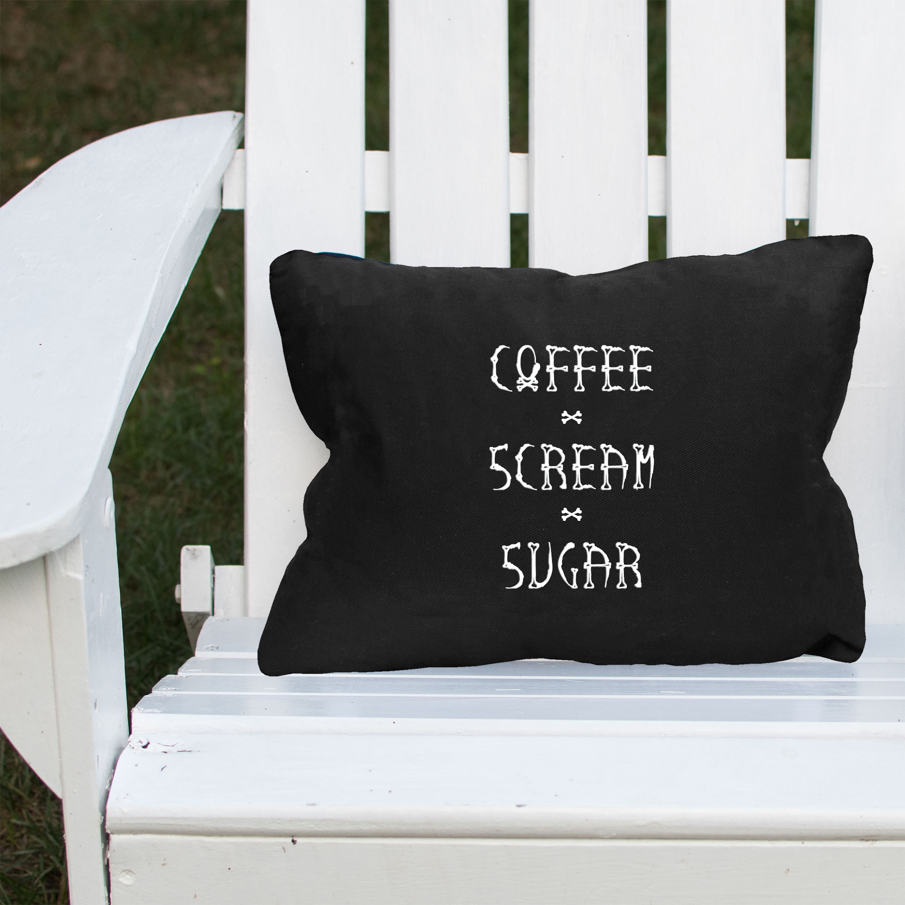 Coffee Scream Sugar Halloween Lumbar