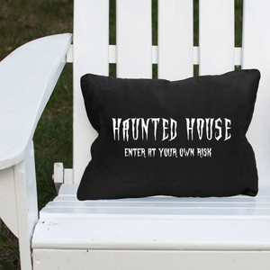 Haunted House Halloween Lumbar