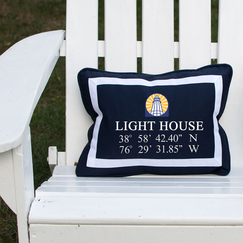 Annapolis Light House Pillow