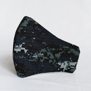 Blue Camo Mask (Assorted Sizes)