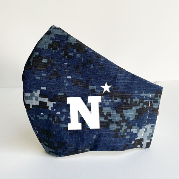 Navy N Star Mask | More Colors