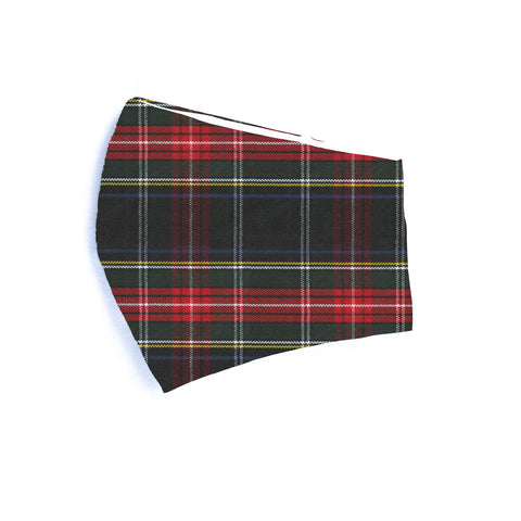 Stewart Black Plaid Holiday Mask