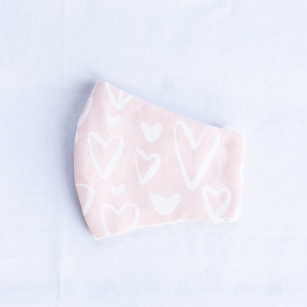 Pink Hearts Mask (Child Sizes)