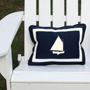 Catboat on Outdoor Navy Lumbar