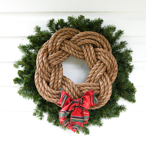 Natural Rope Red Plaid